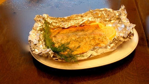 Foil Grilled Salmon with Dill
