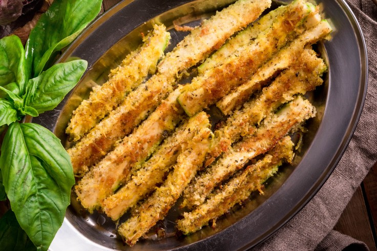 Baked Garlic Parmesan Zucchini sticks
